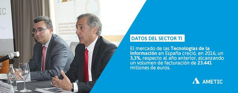 El mercado de las Tecnologías de la Información en España creció un 3,3% en 2016