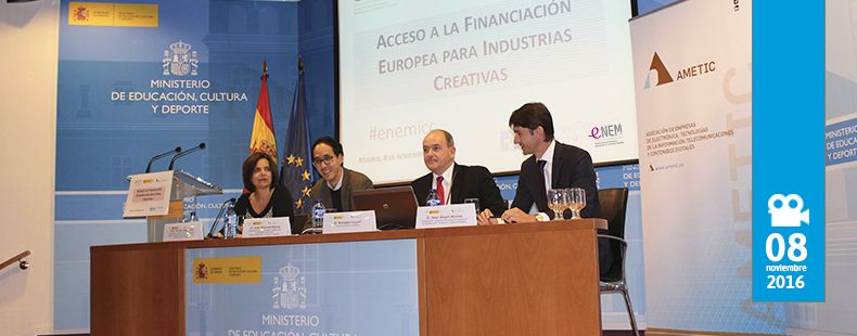 jornada ACCESO A LA FINANCIACIÓN EUROPEA PARA INDUSTRIAS CREATIVAS