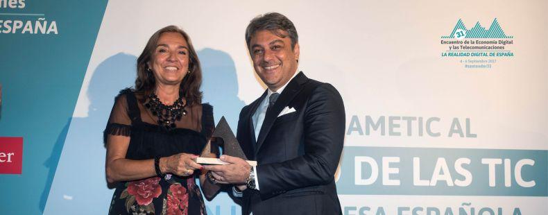 AMETIC concede a SEAT el Premio al Impulso de las TIC en la Empresa Española 2017
