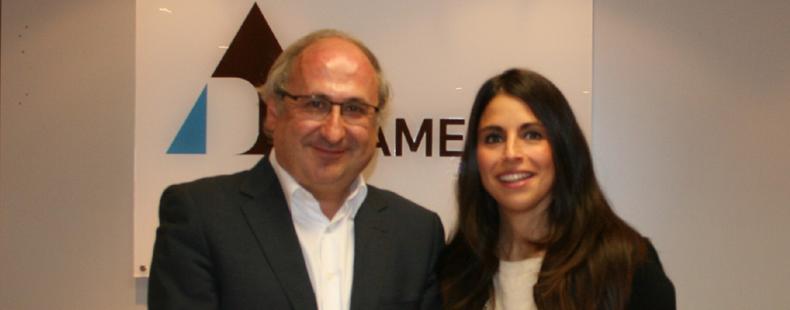 Luis Ignacio Vicente del Olmo, vicepresidente y Verónica Pascual, presidenta