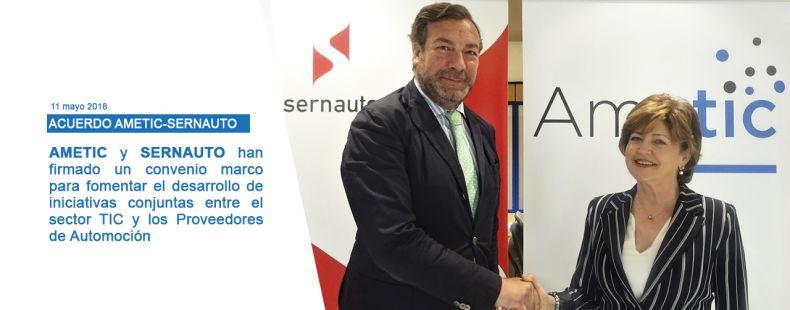 AMETIC y SERNAUTO firman un convenio para reforzar la colaboración entre el sector TIC y Automoción