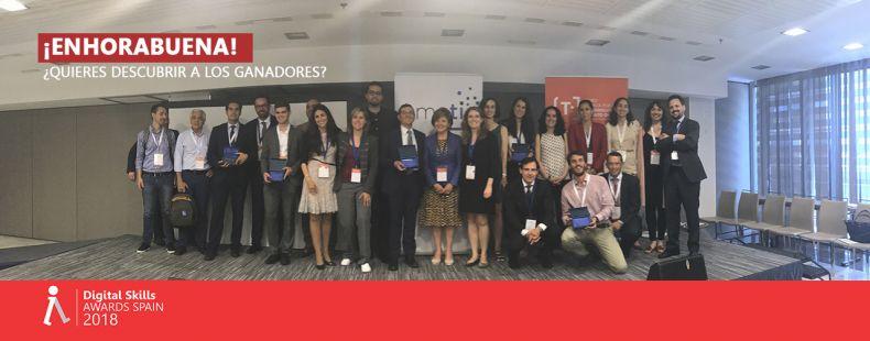 Ganadores Digital Skills Awards Spain 2018