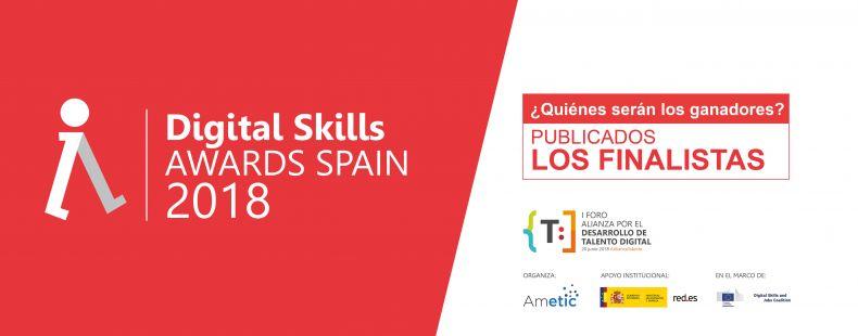 Publicados los finalistas de los 'Digital Skills Awards 2018'