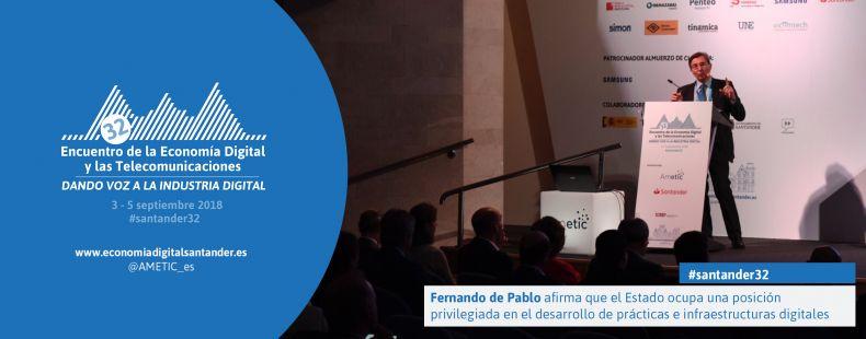 Fernando de Pablo afirma que el Estado ocupa una posición privilegiada en el desarrollo de prácticas e infraestructuras digitales